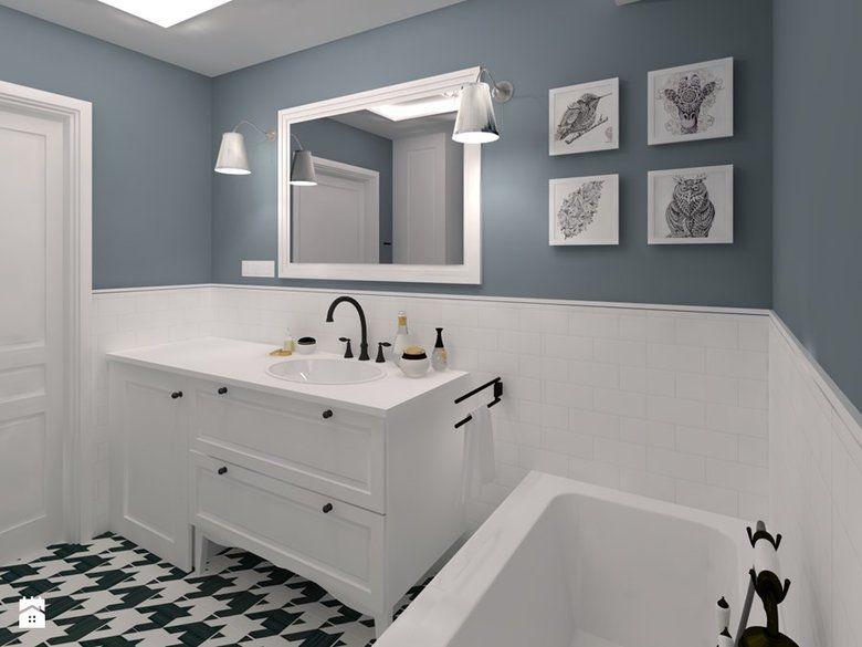Half Painted Bathroom Bedroom W 2019 Dekoracja łazienki
