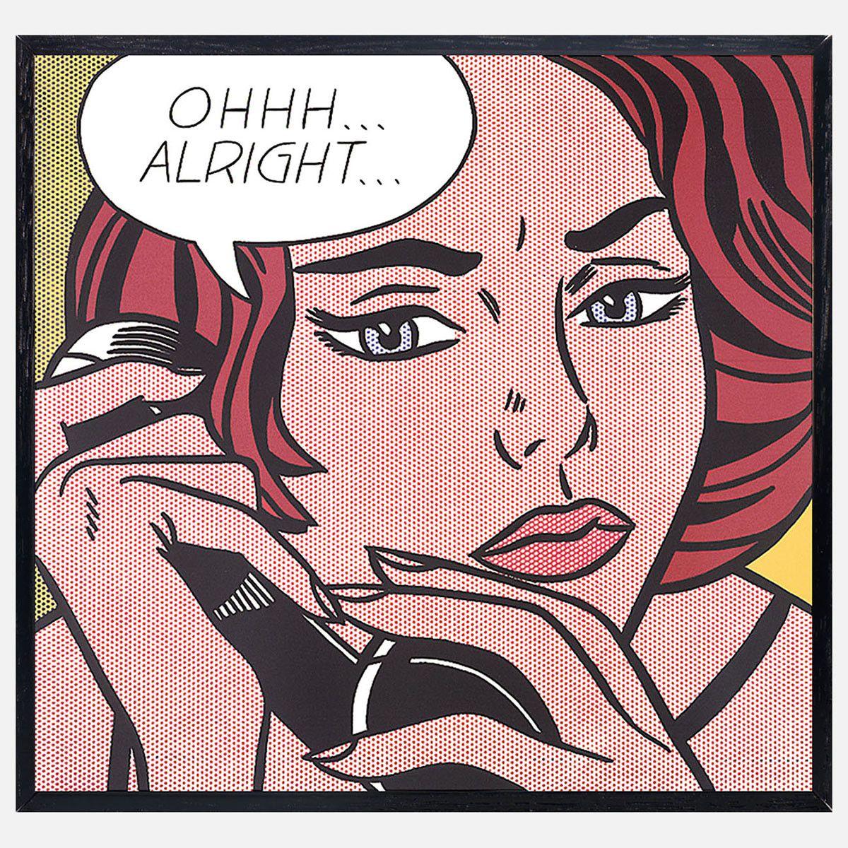 Lichtenstein—Oh…Alright… 1964 | Kunst ideeën, Popart, Roy lichtenstein