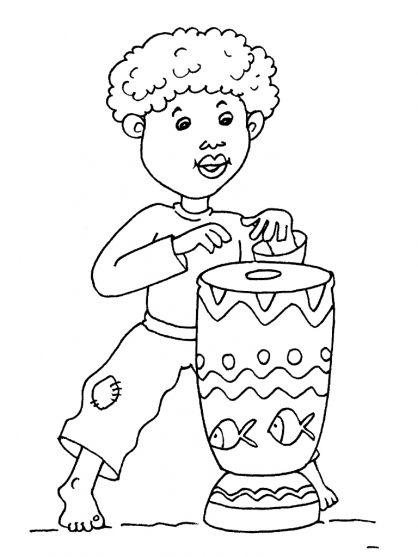 Kleurplaten thema Afrika voor kleuters / African theme preschool ...