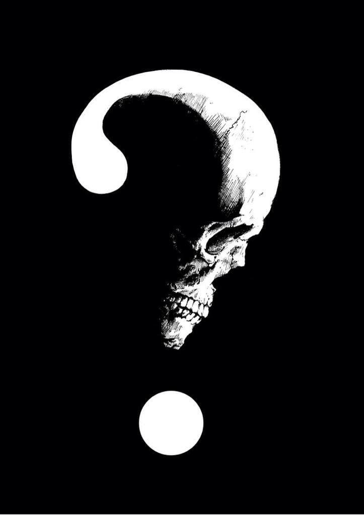 Skull Question Mark In 2019 Skull Art Skull Wallpaper