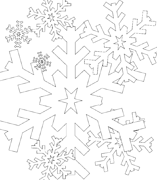 A Collection Of Snowflake Coloring Pages - Winter Coloring Pages ...