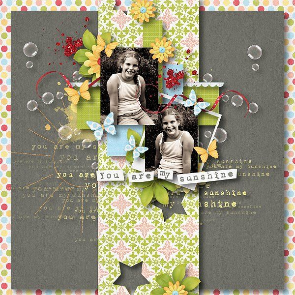 WOW! I love the strip down the middle, the use of cut out stars, the messy cluster.  Very nice!