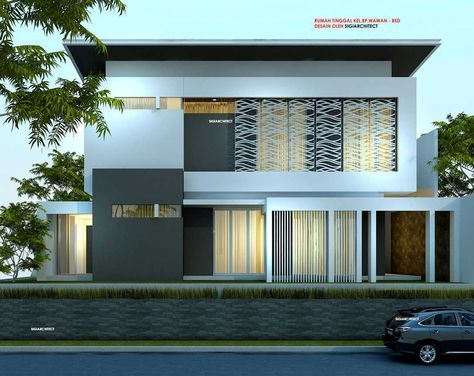 desain rumah pojok_box house_modern minimalis | arquitetura