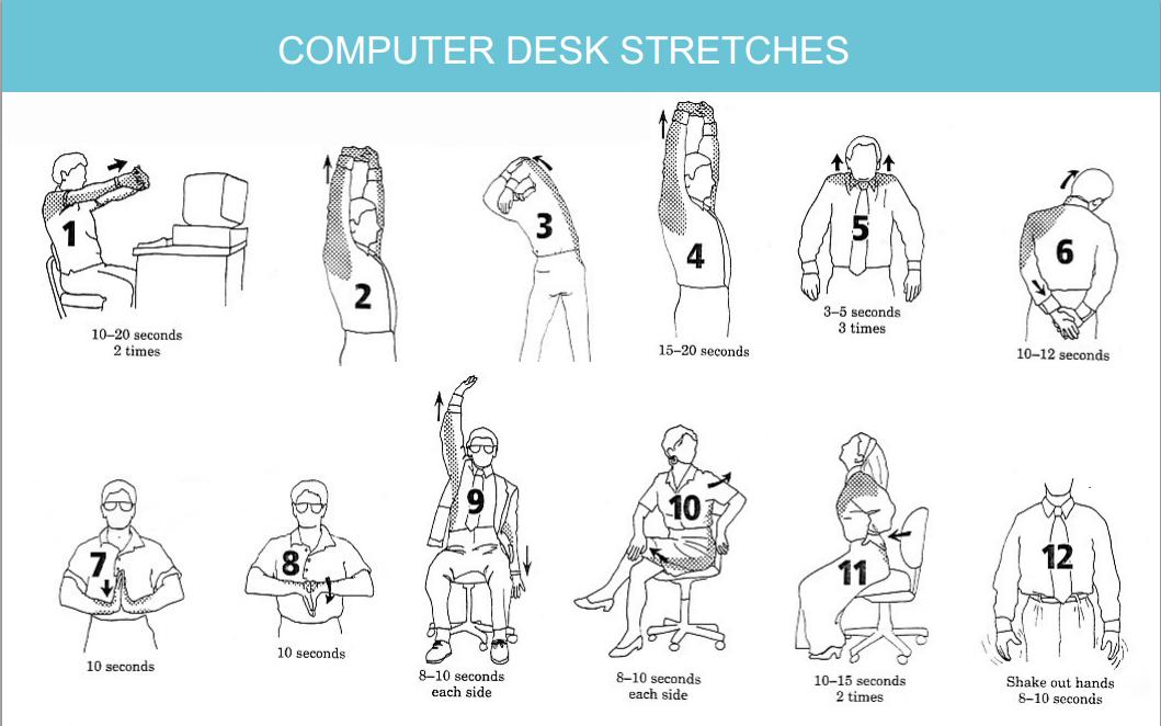 создания офисная гимнастика упражнения картинках помощью