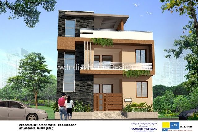 Modern house designs indian style house elevation indian for Small house elevation in india