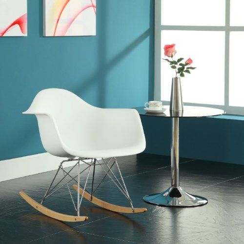 Home Life Retro Modern Rocking Lounge Cradle Chair with Ash-Wood Rockers – White | Weekly Posts #sofachair #sofa #woodenchair #leatherchair