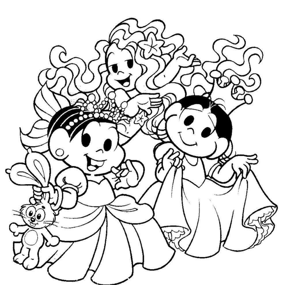 Turma Da Monica Princesas Desenhos Para Colorir Princesas