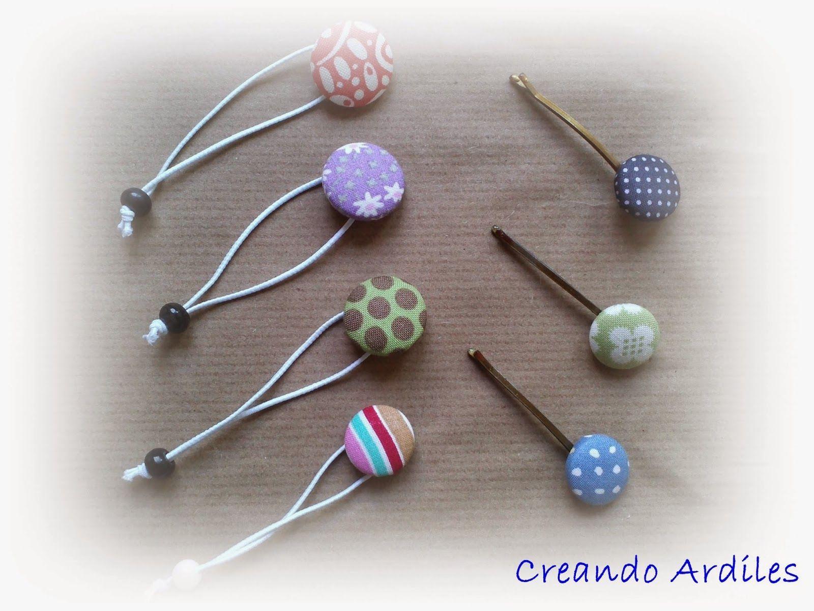 Creando Ardiles: Coleteros con botones forrados www.creandoardiles.blogspot.com