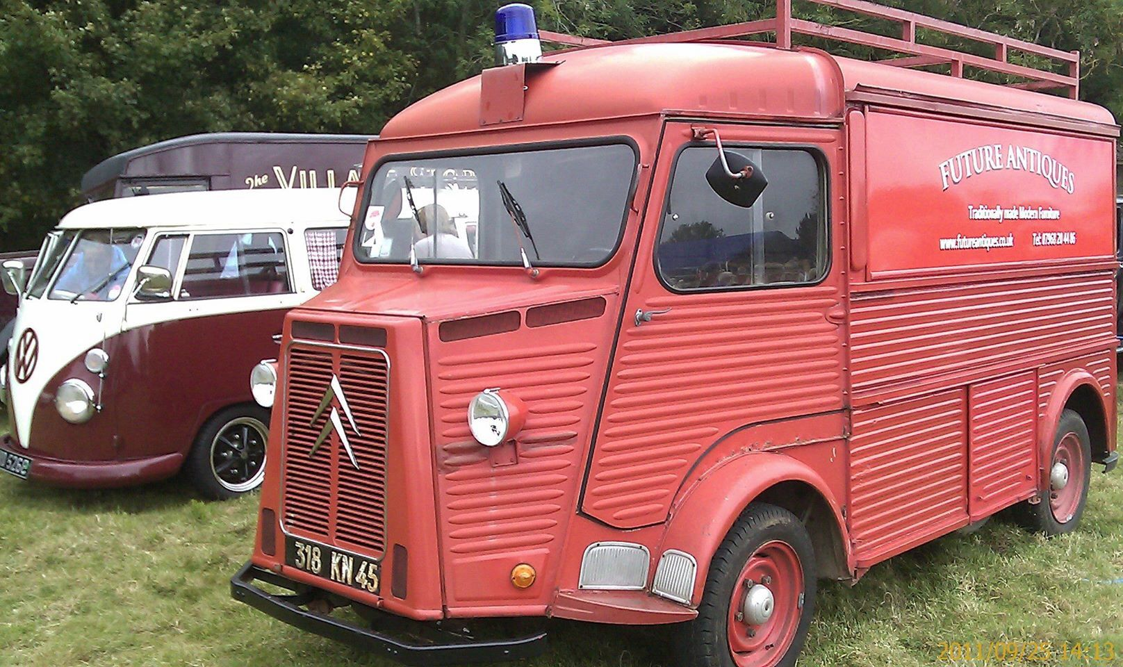 1966 french fire engine citroen h van commune st martin d arbart work