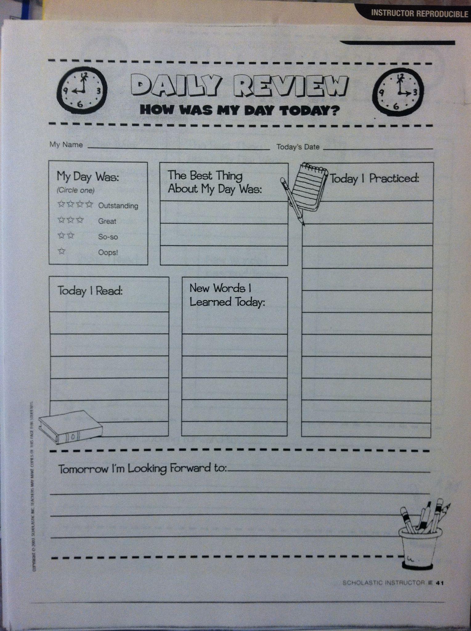 Homeschool Weekly Schedule Template