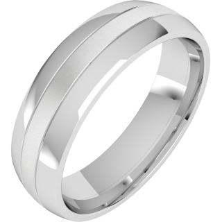 A classic courted mixed finish mens wedding ring in 18ct white gold from London family run jewellers, Purely Diamonds, www.purelydiamonds.co.uk