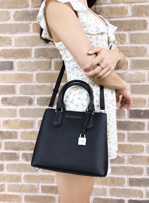 a52a5aa82c7f Michael Kors Adele Mercer Medium Messenger Bag Black  Handbags  MK   MichaelKors