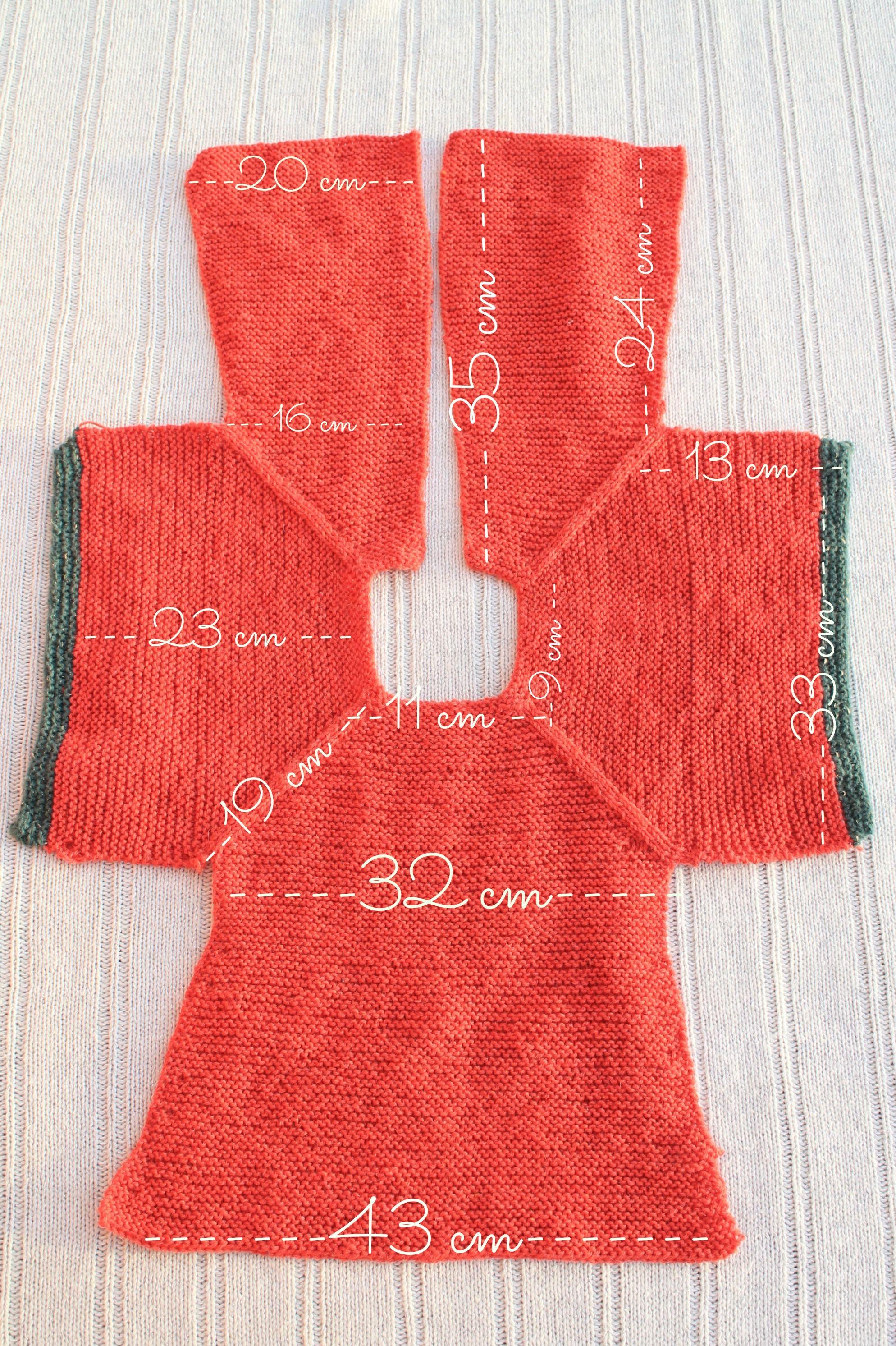 medidas patrón chaqueta punto niña talla 2 | Crochet, knitting ...