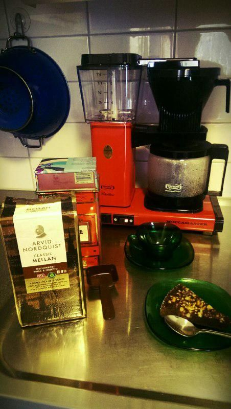 coffemaker, Moccamaster red.