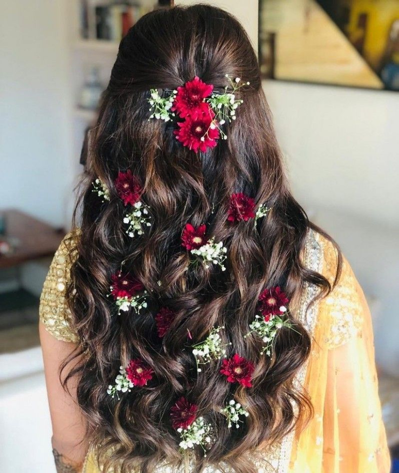 Girl Flower Hairstyle In 2020 Long Hair Styles Wedding Hairstyles For Long Hair Hair Styles