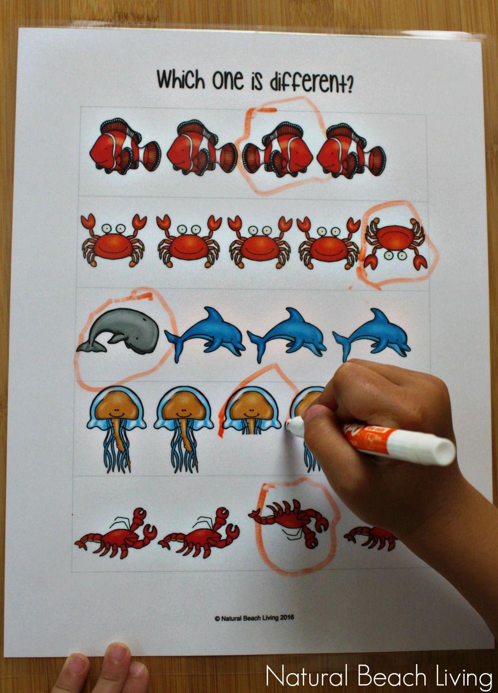 The Best Ocean Animals Preschool Activities Free Printables