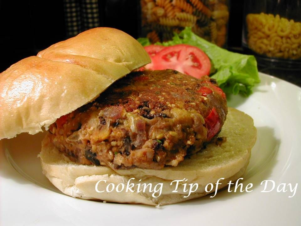 Cooking Tip of the Day- Veggie Burgers with Garlic Mayo