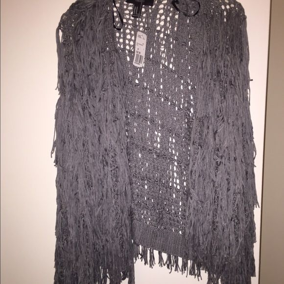 Fringe sweater Fringe sweater M. So cute over camis! Forever 21 Sweaters Cardigans