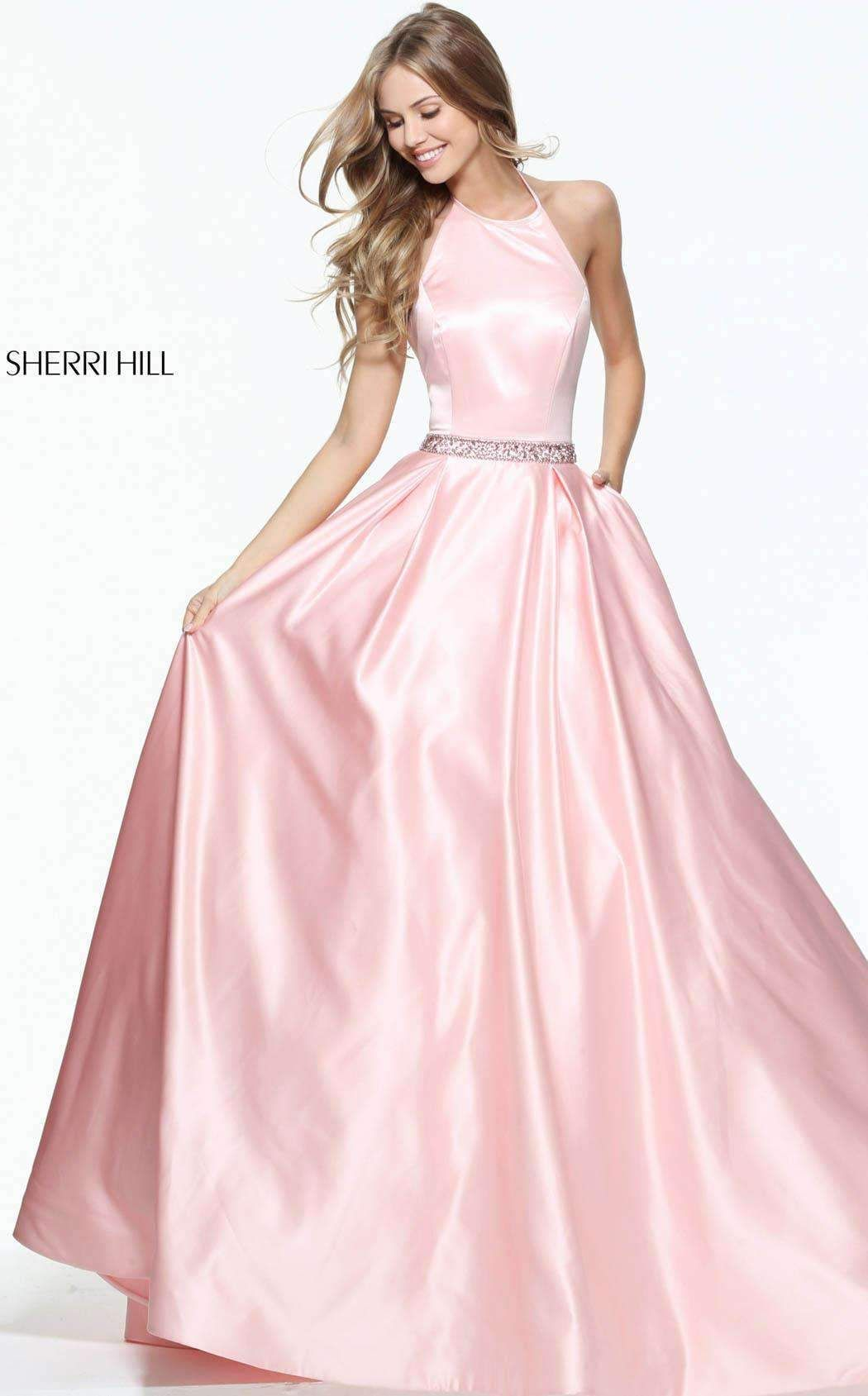 5977927f89a Sherri Hill 51036. Sherri Hill 51036 Blush Prom Dress