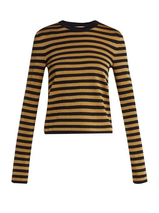 Long Saint Striped Sleeve Laurent Sweater ExZqgwSa