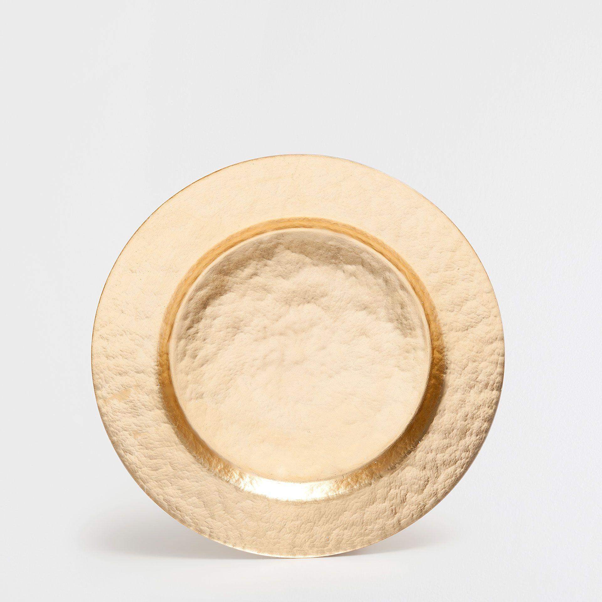Bajo plato vidrio dorado bajoplato mesa zara home - Zara home es ...