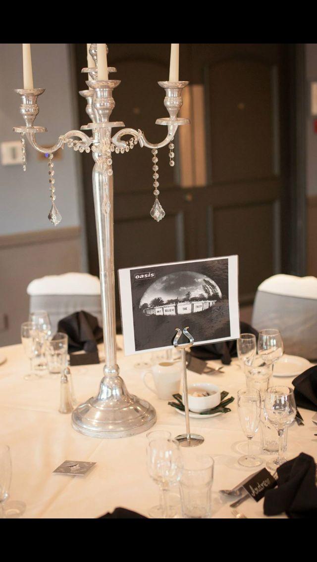 Black & white wedding #OasisTableNames