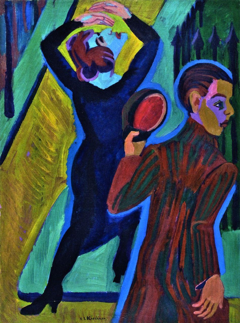 ernst ludwig kirchner farewell 1925 1926 entartete kunst expressionismus kunstproduktion pinakothek der moderne bilder chinesische