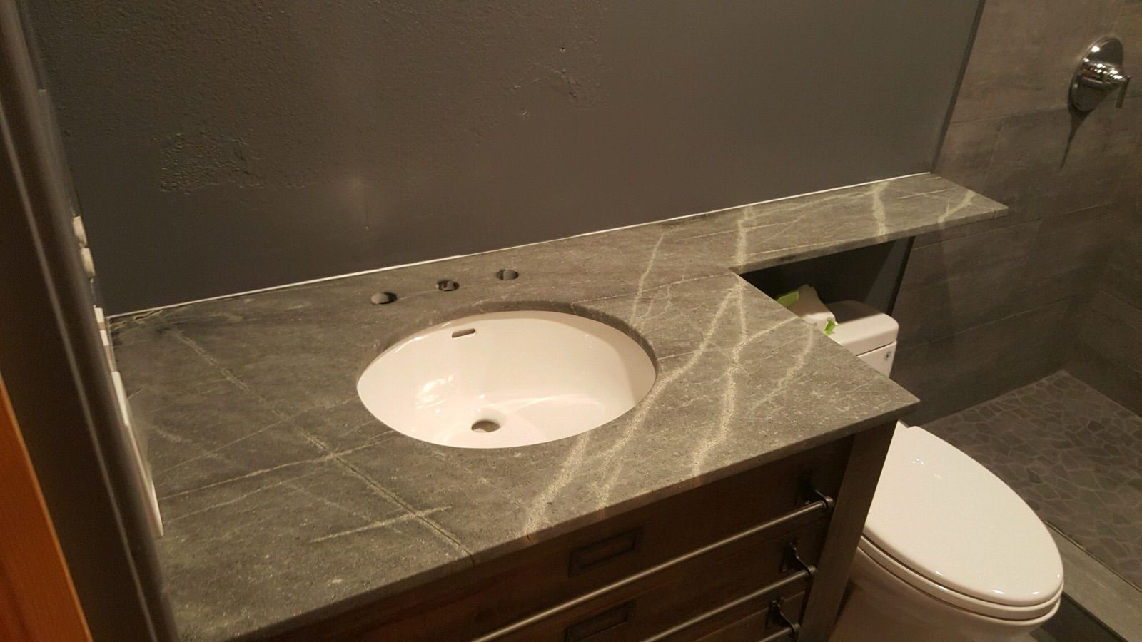 Atlantic Lava Stone Bathroom Countertop Bathroom Countertops