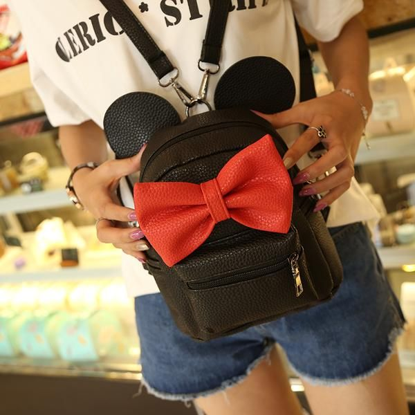 10999bcc778 Mickey Mouse leather Backpack For Women! BackPacks for teens