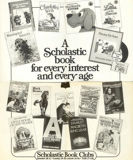 A Scholastic Book Clubs flyer from 1984-oh, how I loved when the Scholastic book order came in.