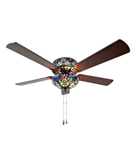 Combine beauty and function with this ceiling fan featuring an combine beauty and function with this ceiling fan featuring an intricate stained glass shade and five aloadofball Images