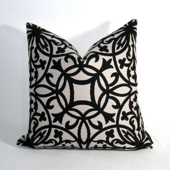 Black White Pillow Cover Modern Black White Outdoor Pillows Decorative Pillow Geometric White Pillow Covers Black And White Pillows Outdoor Pillow Covers