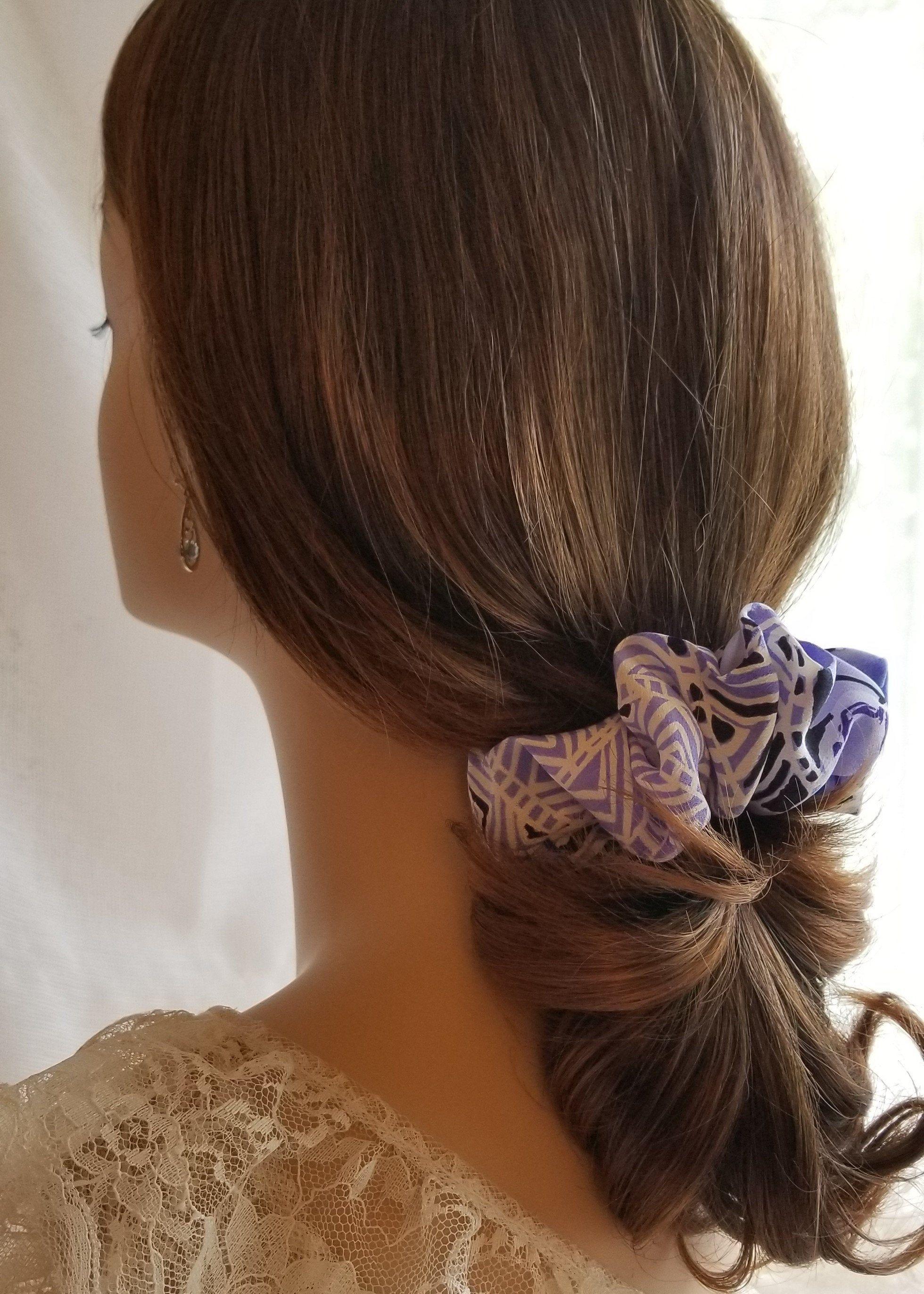 Silk Scrunchie Reversible 2 In 1 Pony Tail Holder Shades Of Etsy Scrunchie Hairstyles Ponytail Hair