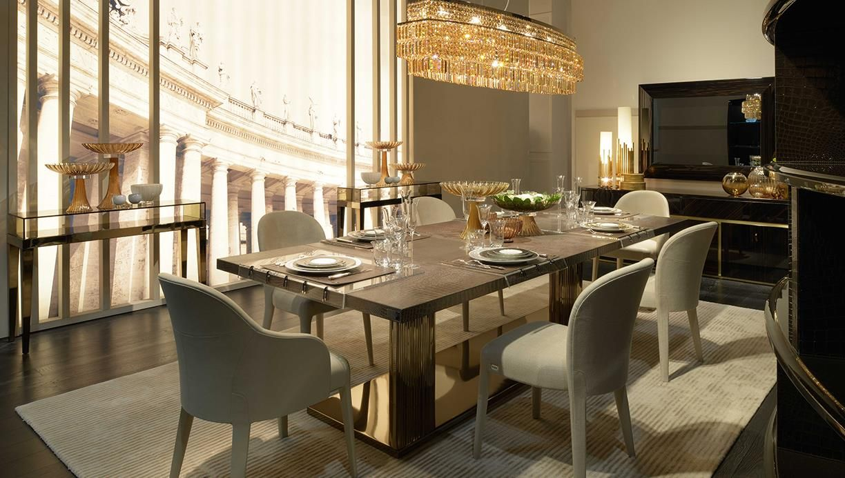 Living And Dining Room Design Fendi Casa Interior Collections By Luxury Living Group Fendi