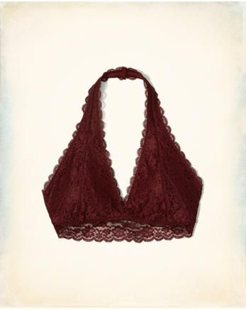 21687b8239739 hol Lace Halter Bralette With Removable Pads
