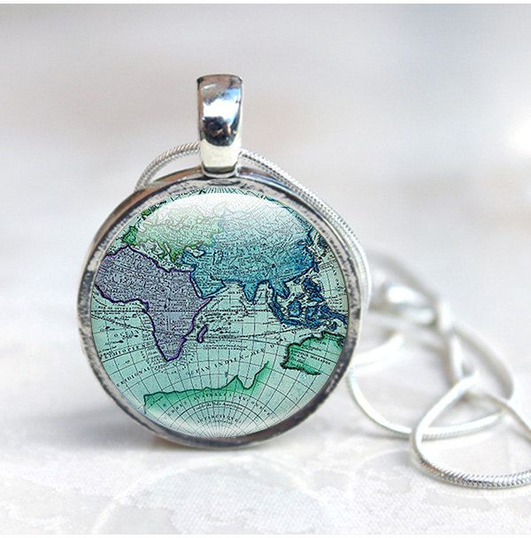 Map necklace ancient world map globe necklace world map pendant map necklace ancient world map globe necklace world map pendant old map gumiabroncs Image collections