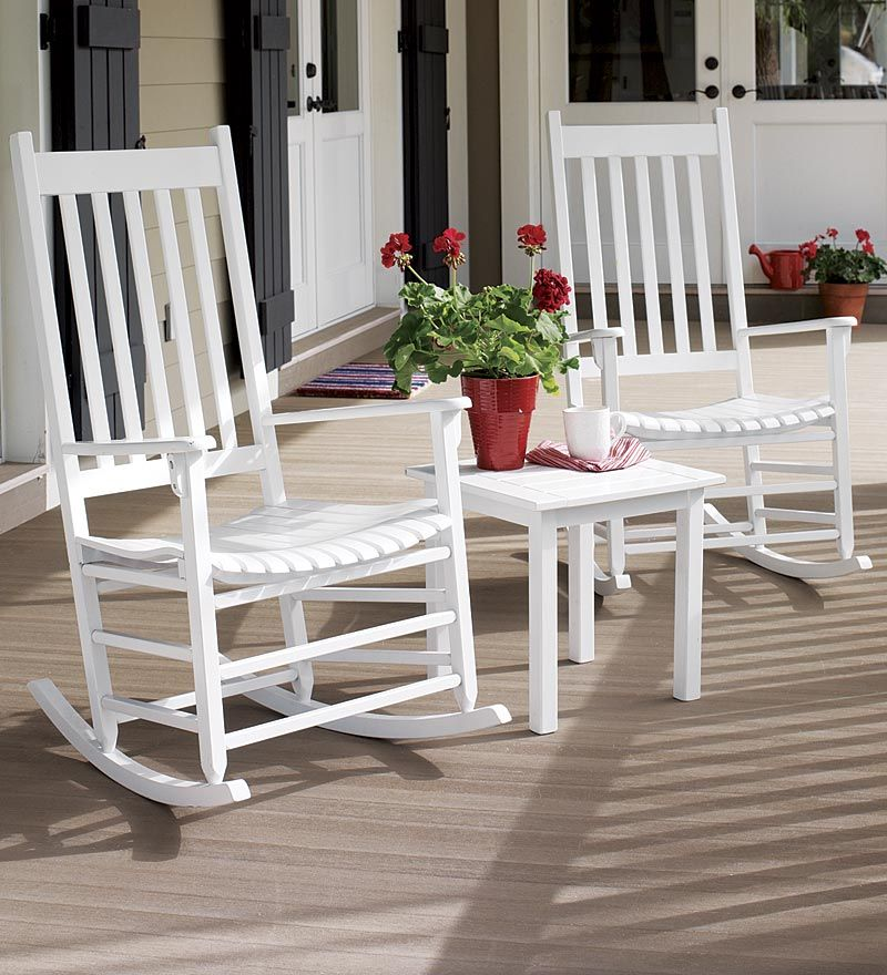 Classic Slatted -maintenance Eucalyptus Rockers