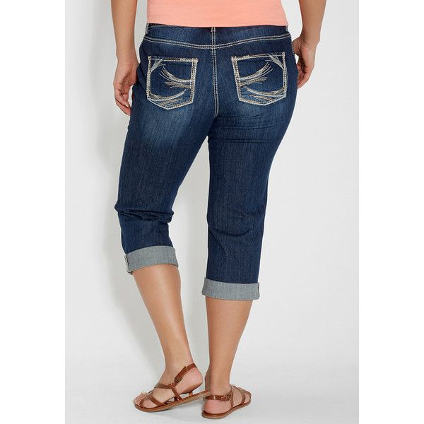 952df551a32 maurices Plus Size - Taylor Capri In Dark Wash ( 49) ❤ liked on Polyvore