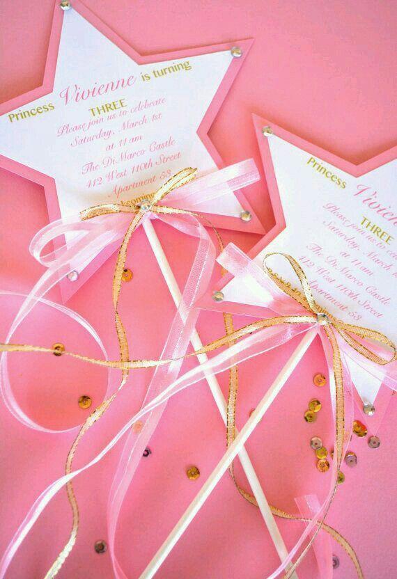 Princesa Invitaciones De Cumpleaños Cumpleaños De Hadas Y