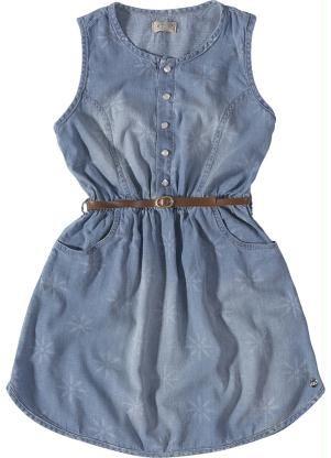 167c90b4de Vestido Jeans Infantil (Cinza) Carinhoso. Vestido Jeans Infantil (Cinza)  Carinhoso Roupas Infanto Juvenil ...