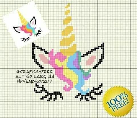 Resultado de imagen de unicornio em ponto de cruz | Punto de cruz ...