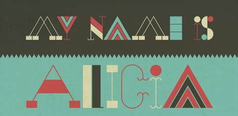 Alicia typeface by Alexander Wright