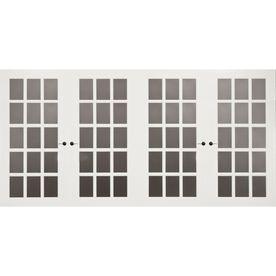 FrenchPorte 18 Ft X 8 Ft Jennifer White Double Garage Door With Windows