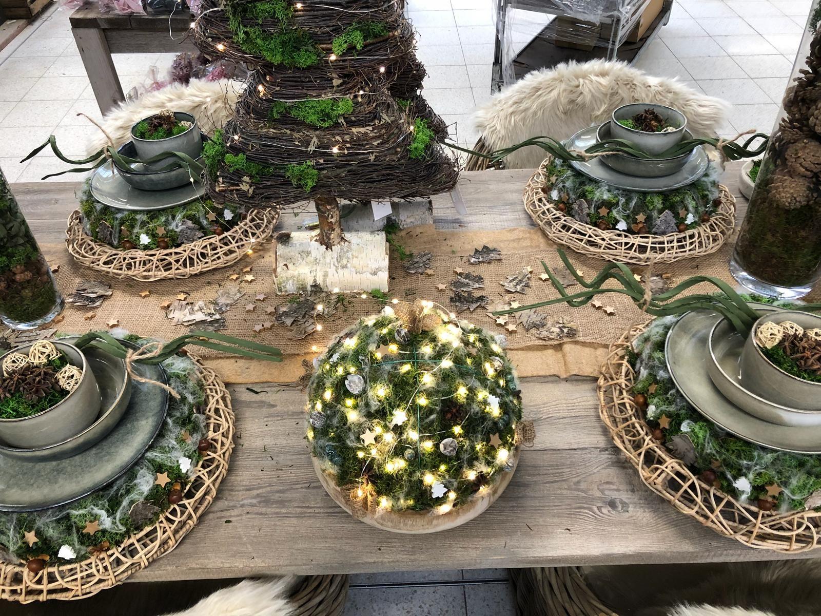 Feestdagen Natuurlijke Kerstdecoratie : Floralux feestdagen fêtes versier je feesttafel in een
