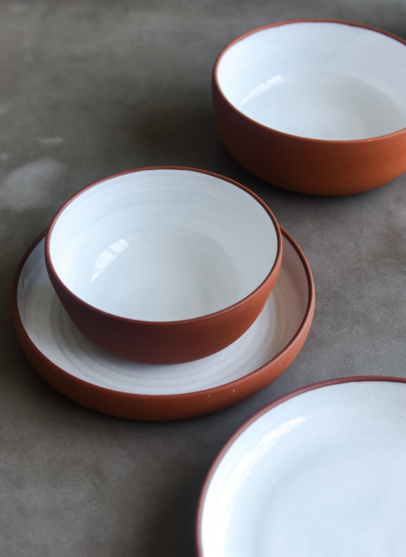 Terracotta Dinner Set Handmade Ceramic Dinnerware Terracotta Bowl And Plates Handmade Tableware Stoneware Dinnerware Rustic Dish Set Handmade Tableware Stoneware Dinnerware Ceramic Dinnerware