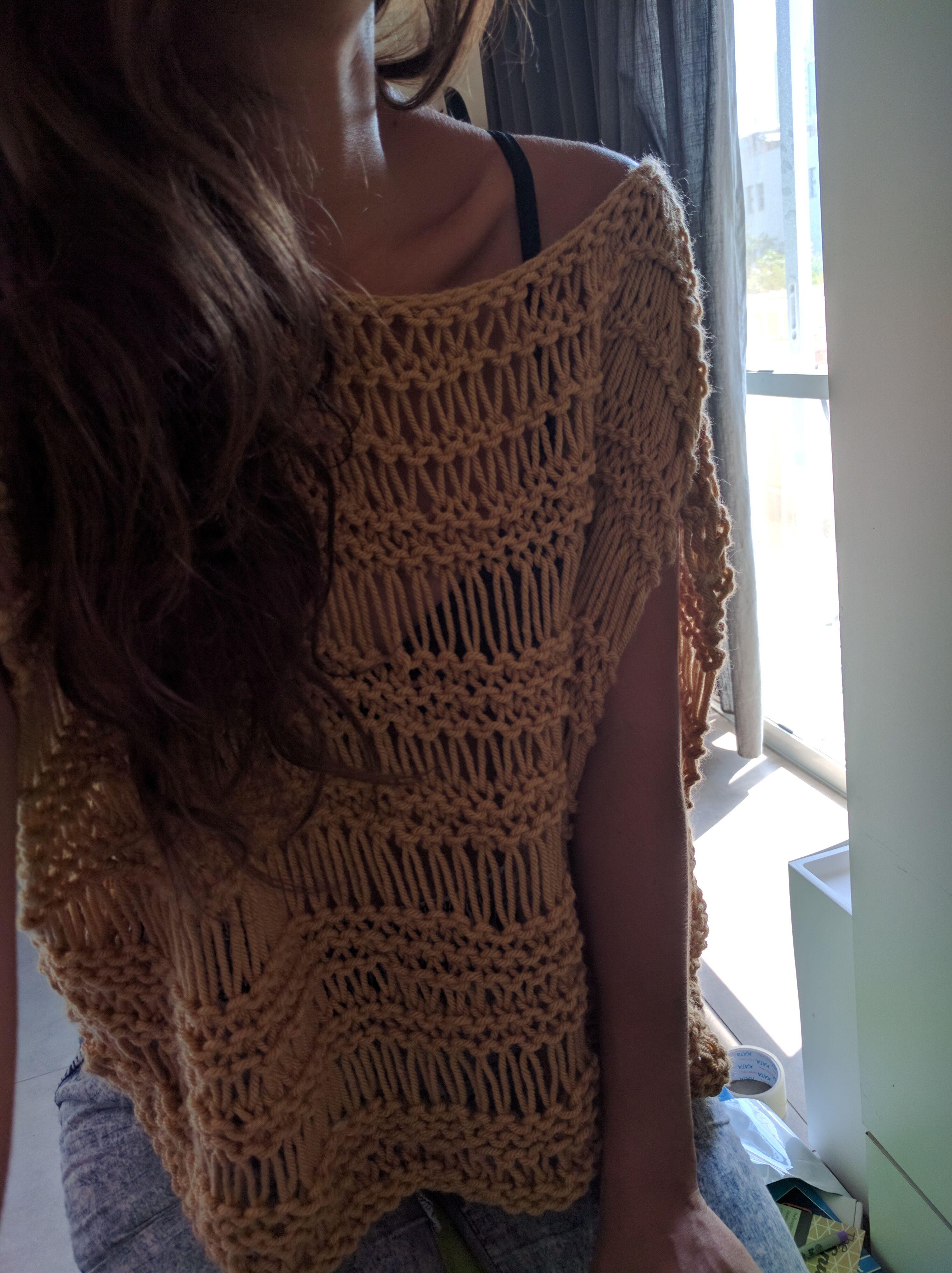 Dropped Stitch Top Pattern | Knitting patterns free ...
