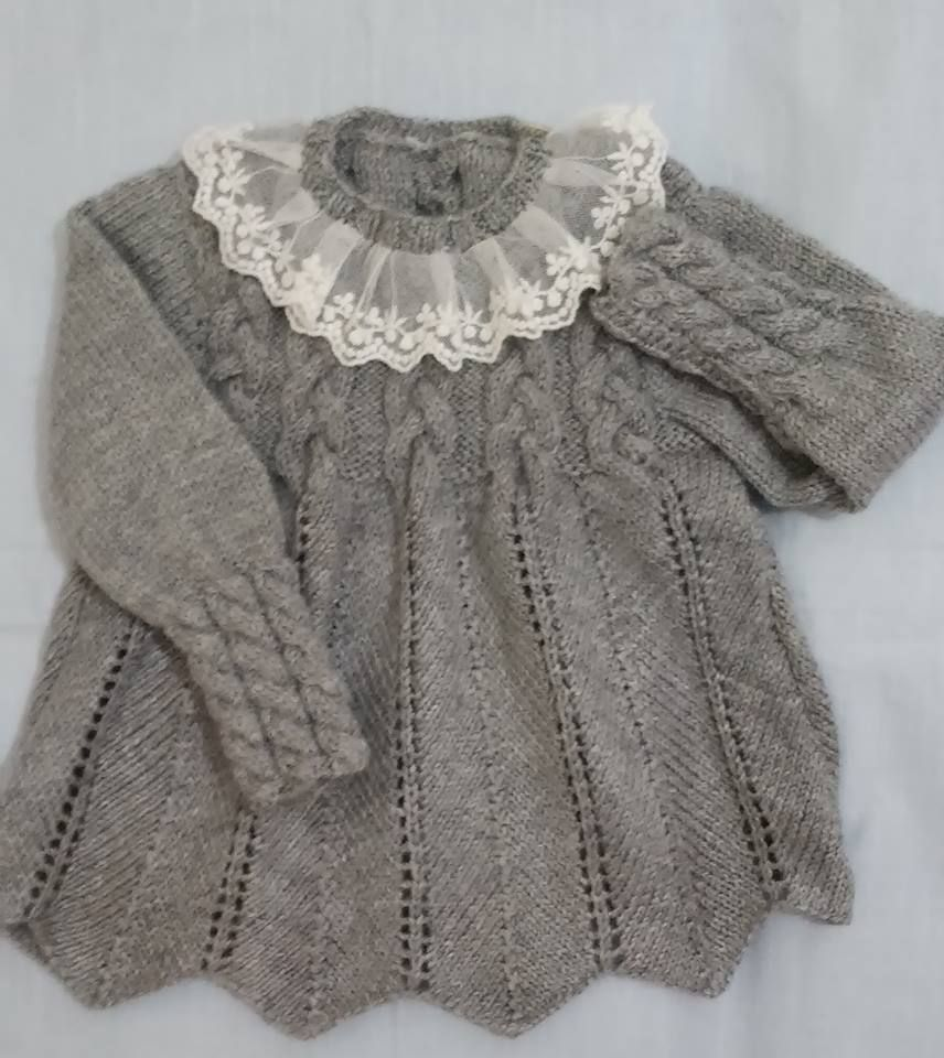 Cabled Yoke Sweater With Razor Shell Or New Shell Body