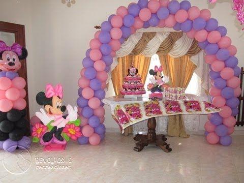 Decoracion con globos minnie mouse fiesta infantil 2 - Decoracion fiesta infantil ...