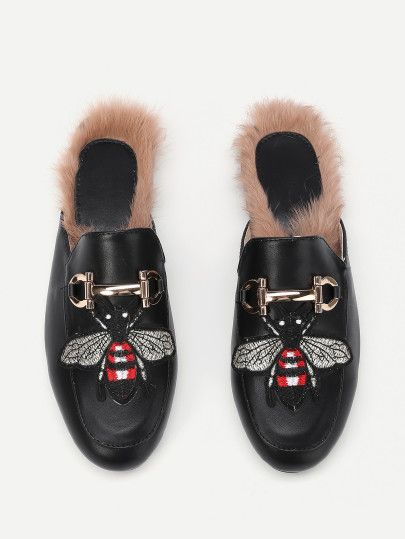 Joefsf   scarpe AFFAIR   Pinterest   Bee embroidery, Flat mules and Bees