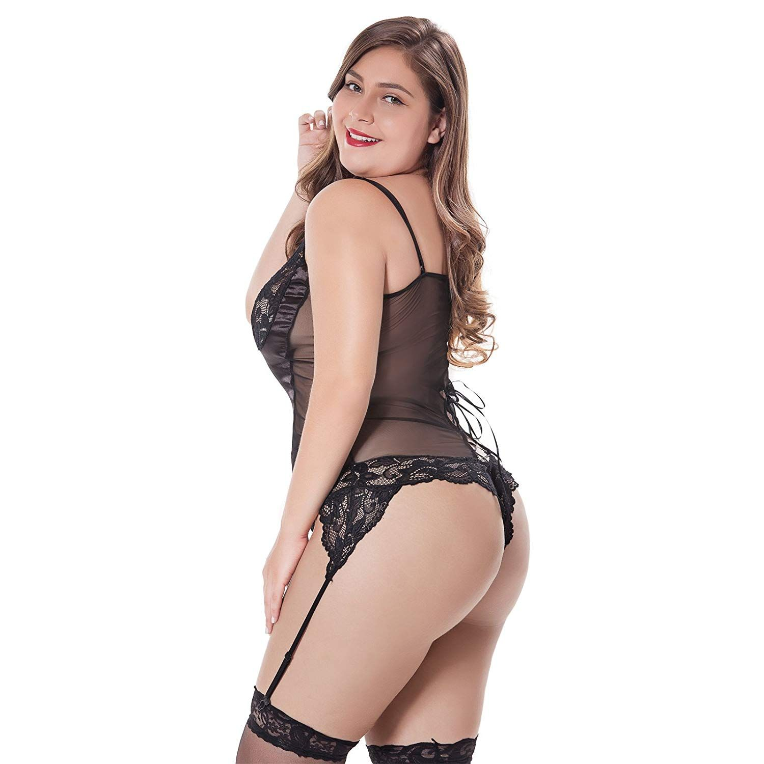 bec0b8a34704d Sexy Women's Lingerie Set Plus Size – Includes Garter, Stockings and Lace  Eye Mask Blindfold, Handcuffs, Necklace Accessories. Our products are  developed ...